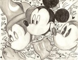The Many Faces of Mickey Mouse by McCoy92