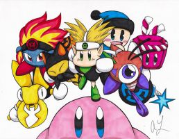 Kirby Lantern Corps by toonartist