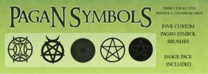 Pagan Symbols PSP 9 Brushes by zememz