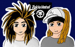 Tokio Hotel Twins by CursedDevil
