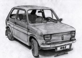 FIAT 126P Maluch 1975 by Arek-OGF