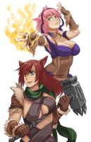 Sabrith and Tayelle by WhistlinFrog