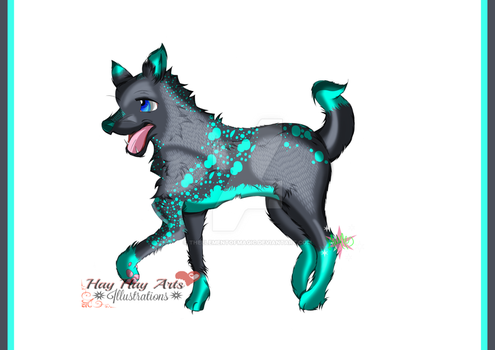 | WIP3 | New Wolf Character by TheElementOfMagic