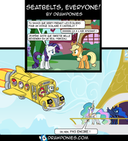 Comic (En Francais): Seatbelts Everyone by drawponies