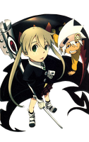 Soul and Maka render by reiko02
