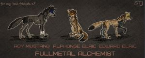 Roy Mustang, Alphonse Elric and Edward Elric by SamTayJerome