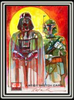 Vader and Fett by markmchaley