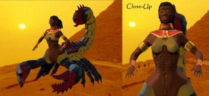 Egyptian Scorpion Queen by BrandonSPilcher