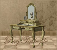 Mirror-Table 3d object by moonchild-ljilja