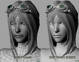 Cyberpunk Girl-WIP-03 by PyrZern