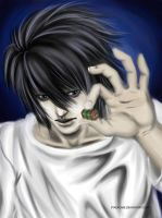 Lawliet [Death Note] by Vyndicare