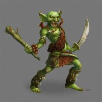Goblin Barbarian by Nightblue-art