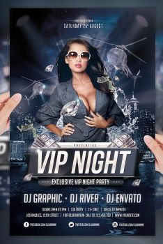 Vip Night Party PSD Flyer by jellygraphics