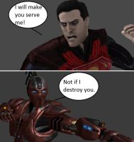 Injustice: Regime Superman vs Sektor by xXTrettaXx