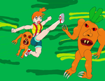 Misty Vs the Carrot Monsters by Bahmo