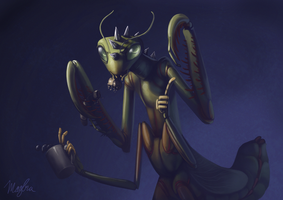 Portrait of a Punk Mantis by DimeSpin