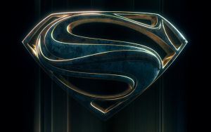 Bluish Man Of Steel Logo by blendedhead