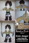 Attack on Titan Eren Jaeger hand-made plushie by Ubermidget