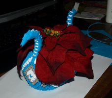 Blue Dragon Boat (3D Origami) by Denierim