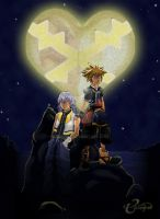KH2: Sora and Riku by tsinhee
