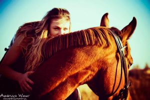 64_horse Wiera and Agnieszka by agu-incredible