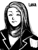 Tegaki - Lana - Black + White by escape-emotion