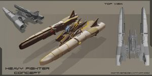 Heavy fighter by DmitryEp18