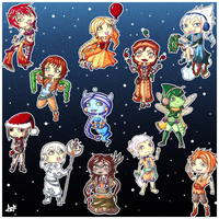 Chritsmas presents Chibis by Yueyun