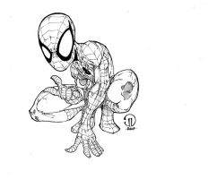 Little Spidey inks by JoeyVazquez