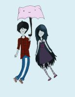 Marshall Lee and Marceline by Cherinae