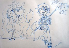 Adventure time_Doodle2_Bad Little boy_Marshall lee by nekoni-klonoa2