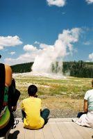 Yellowstone - 24 -Old Faithful by grenadeh