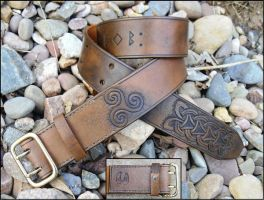 Celtic Knotwork Belt by Half-Goat
