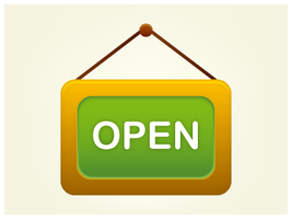 Shop Open Icon by customicondesign