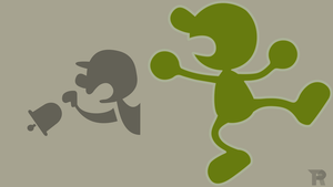 Mr Game and Watch Minimalist Lime by turpinator77