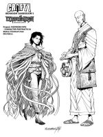 Mistborn Adventure Game - Vin and Sazed by Inkthinker