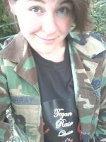 dats me with my Tegan Rain Quin Shirt by skikker