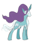 Suicune Pony Sketch by ShinyStrawberry