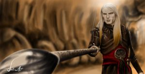 Digital Painting: Prince Nuada by JustineArt