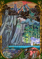 Gates of Argonath by breathing2004