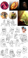 Another Gravity Falls art dump by Nightrizer