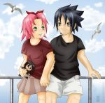 SasuSaku - At The Seaside by Aka-Joe
