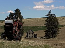 Combine in the Hillside  by TRunna