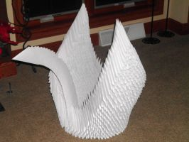 Giant Origami Swan by Cuttlefish43
