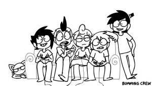 Bumming Crew Doodle: Video Games by iamCoffee964