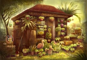 Flower house done by AlineMendes