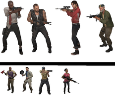 Left 4 Dead One And Two by Metylover2143