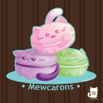 Mewcarons Cute Macaron Kitties by kimchikawaii