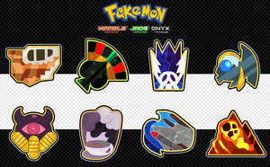 Excelo Region - Gym Badge Showcase by Dragonith