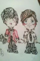 Chibi Brendon Urie and Spencer Smith by Panicatthedisco7